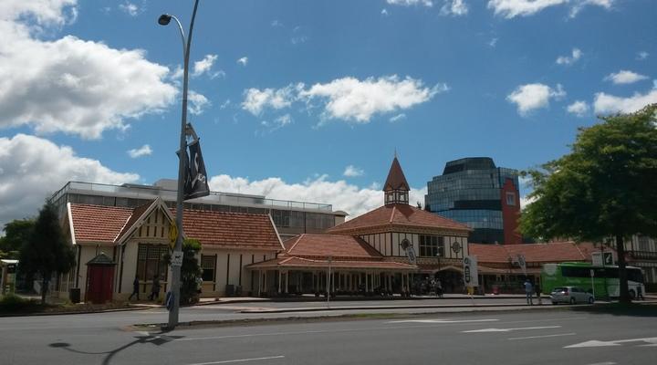 Busstation I-site in Rotorua