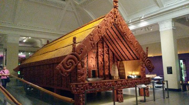 Traditionele Maori-tempel