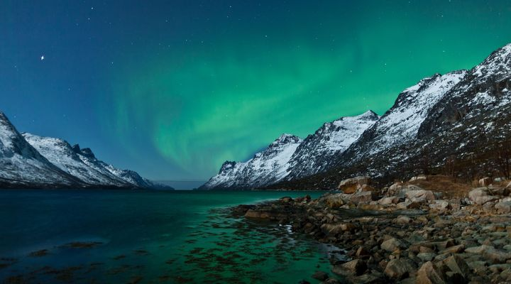 Het Noorderlicht in de Noordse fjorden