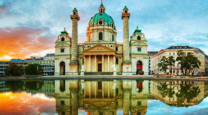 Karlskirche in Wenen, populaire fietsbestemming