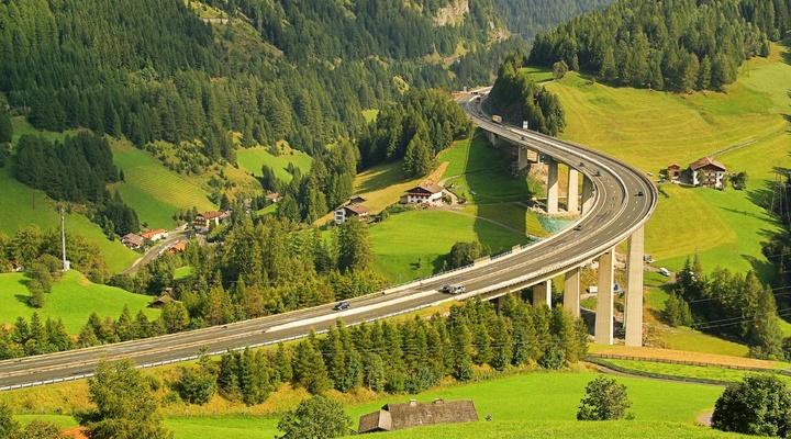 De Brennerpas in Oostenrijk