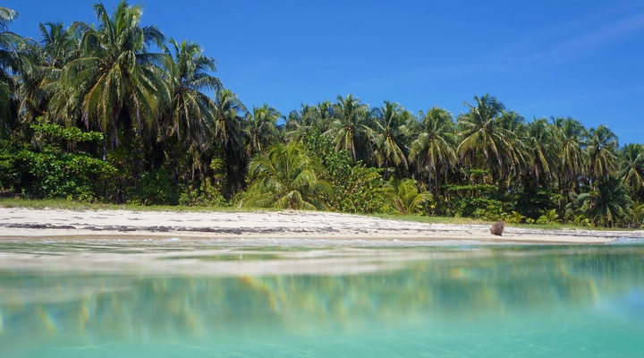 Het strand van Bocas del Toro, Panama