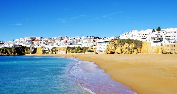 strand van Albufeira, Algarve, Portugal