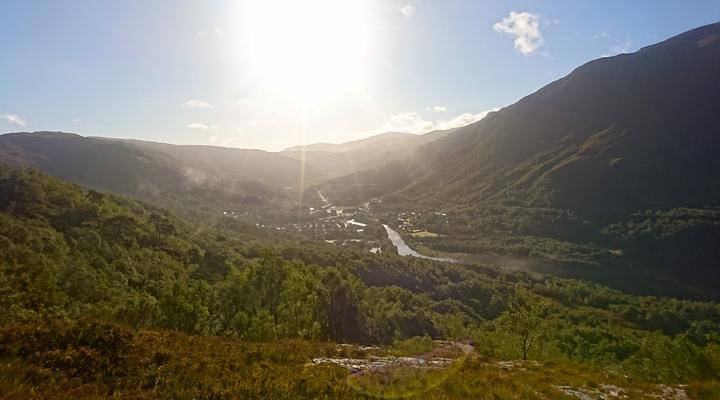 Groene landschap van Kinlochleven, Schotland