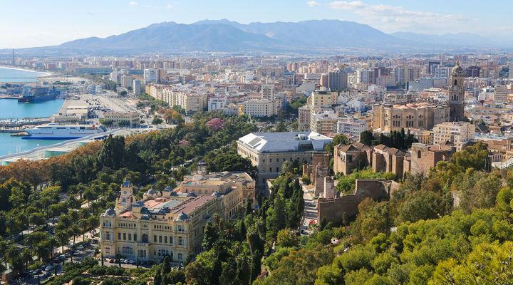 Haven van Malaga in Andalusië