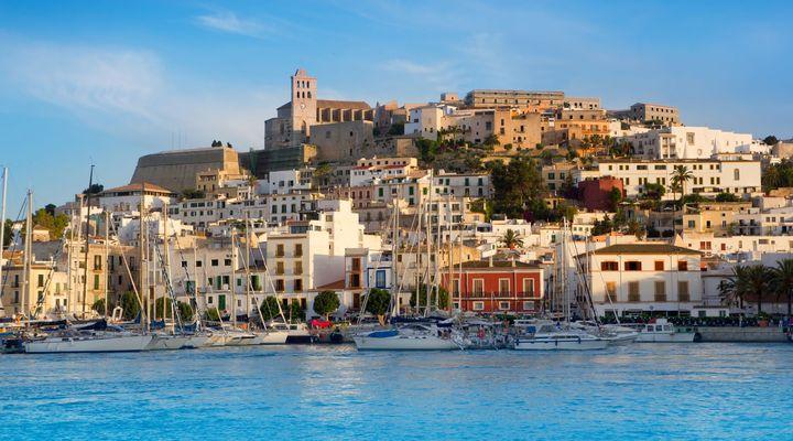 Eivissa stad op Ibiza