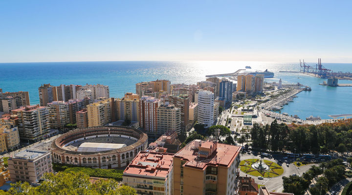 Haven Malaga in Andalusië