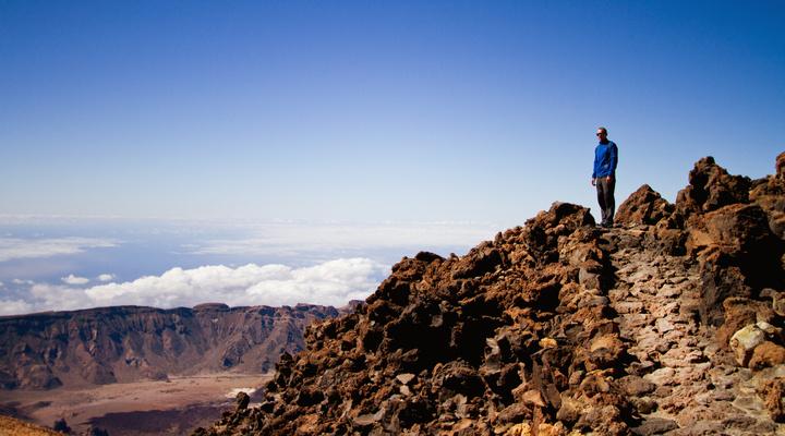 Pico del Teide, hoogste punt van de vulkaan op Tenerife
