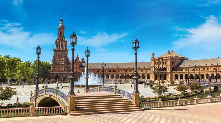 De stad Sevilla in Spanje