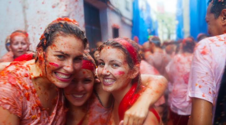 La tomatina deelnemers, Buñol