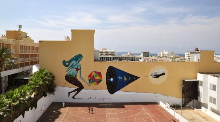 Allereerste 'openair' kunst BLOOP Festival Ibiza