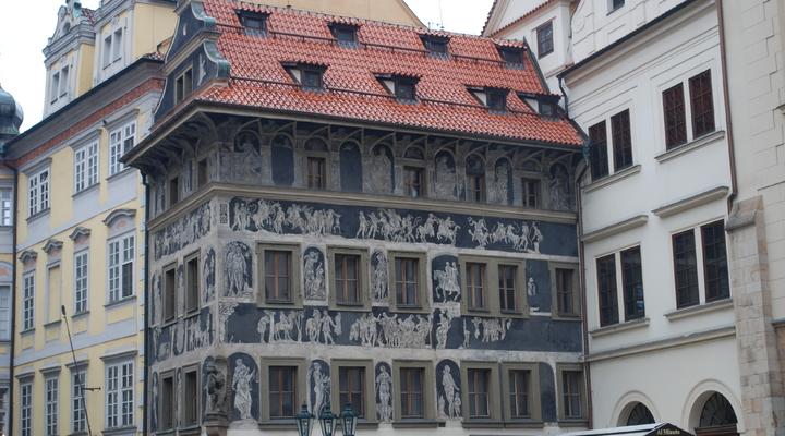 Een van de prachtige gebouwen in Praag