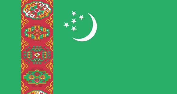 De vlag van Turkmenistan - Reisgraag.nl Rosetta Reizen
