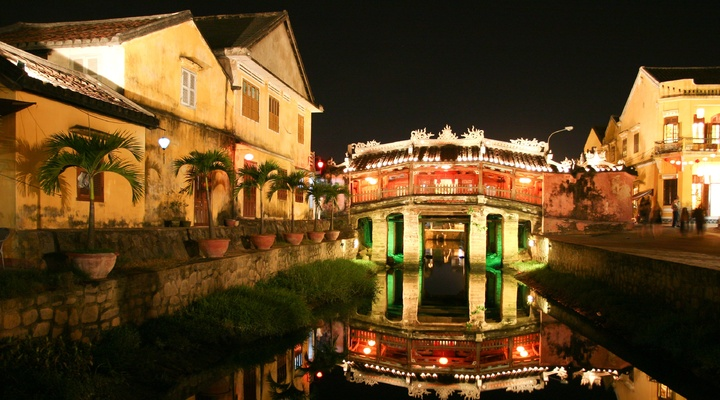 Oude Japanse brug in Hoi An