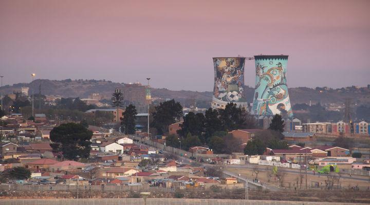 Uitzicht over Soweto