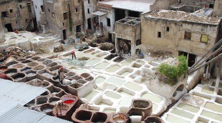 Leer looierij in Marokko