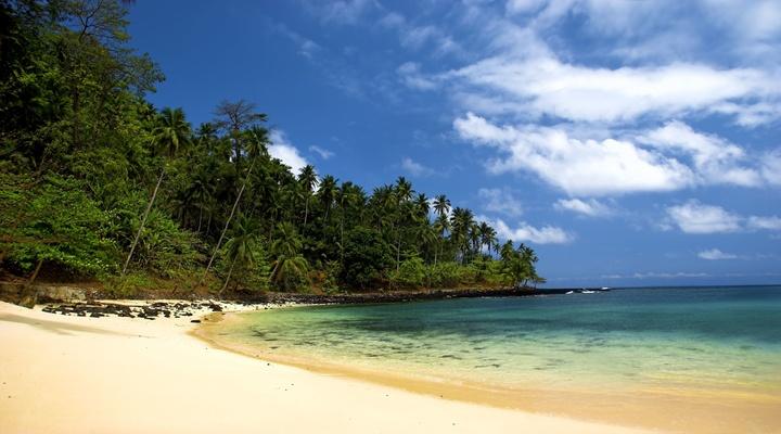 De stranden van Sao Tome