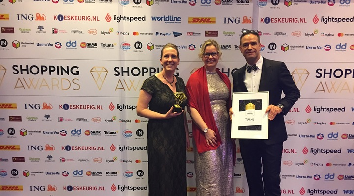 TUI Nederland wint Shopping Excellence Award 2017