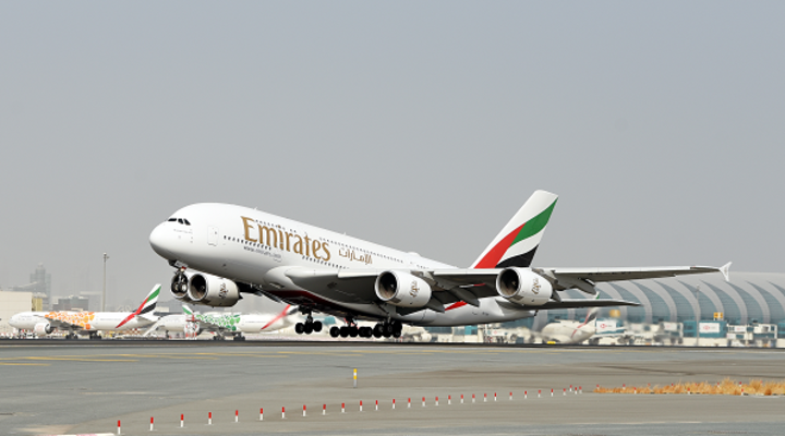 Het A380 vliegtuig