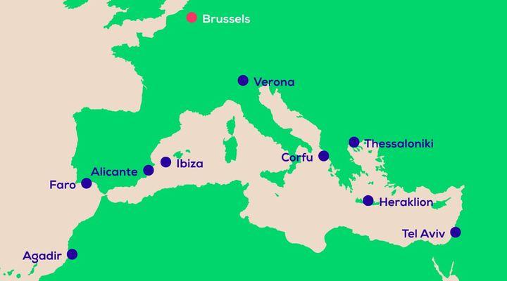 De nieuwe bestemmingen van Transavia vanaf Brussel