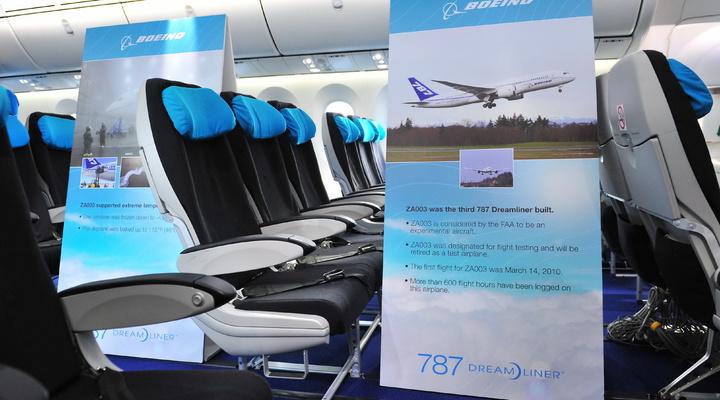 Cabine van de nieuwe 787 Dreamliner