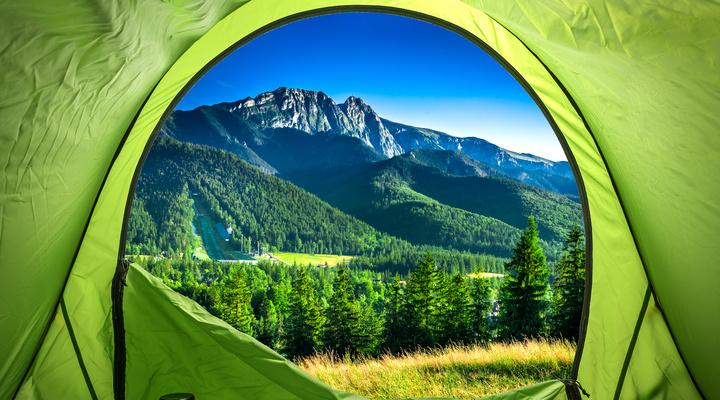 Tent midden in de natuur