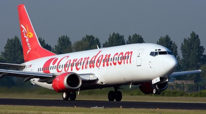 Vliegtuig van Corendon