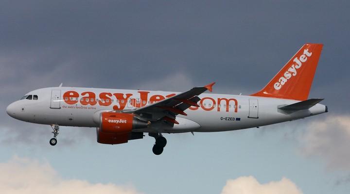 Vliegtuig van easyJet.com