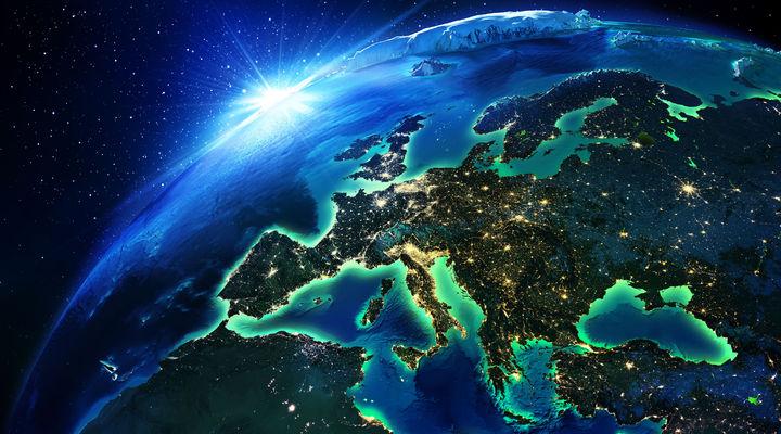 Europa in de nacht