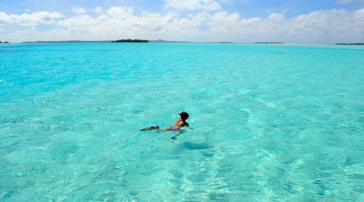 De lagune van Aitutaki