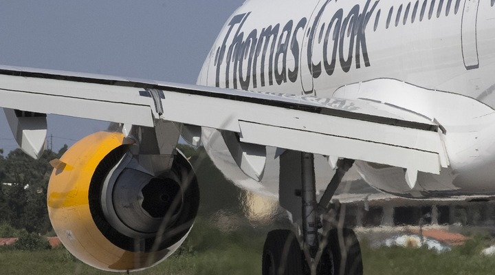 Vliegtuig van Thomas Cook