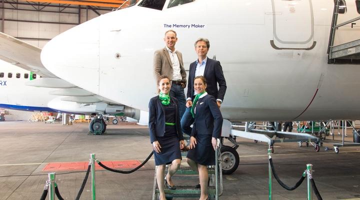 Vliegtuig van Sunweb en Transavia