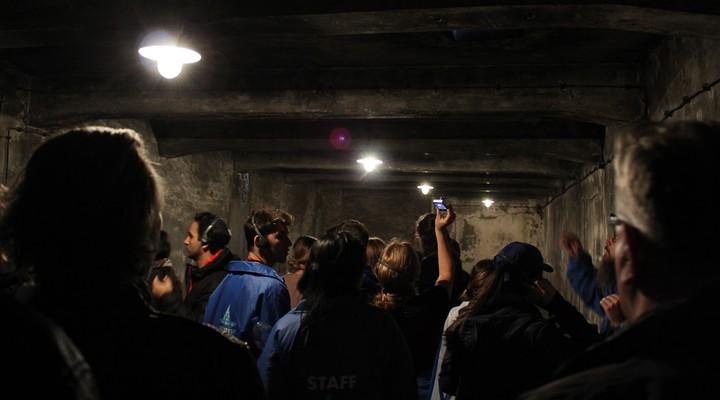 In de donkere gaskamers