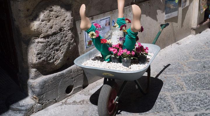 Kunstzinnige plantenbak