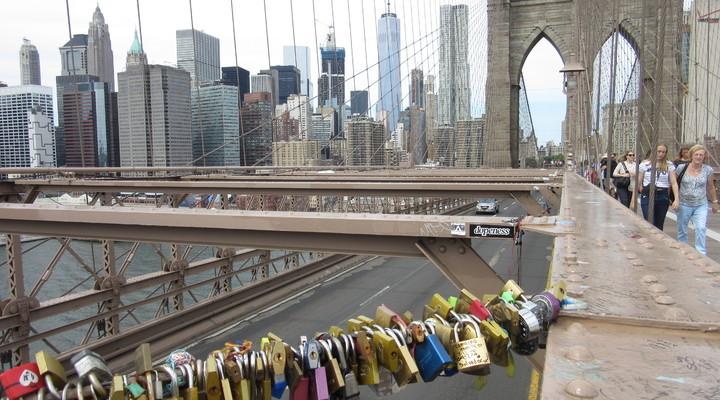 Slotjes op de Brooklyn Bridge