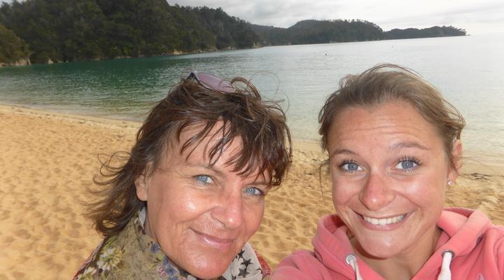 Selfie met mijn moeder