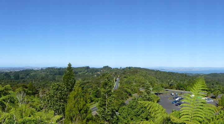 Groene natuur van bovenaf in Nieuw-Zeeland