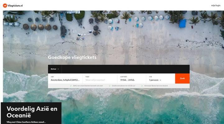 Vernieuwde website Vliegtickets.nl