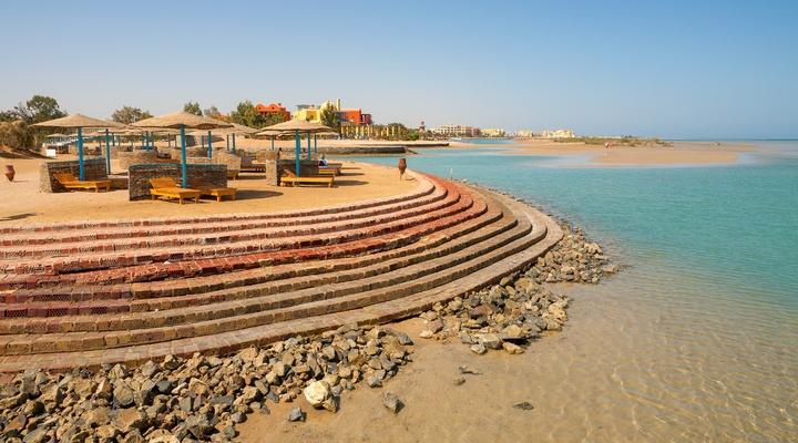 Strand van El Gouna