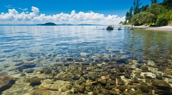 Lake Taupo in Nieuw-Zeeland
