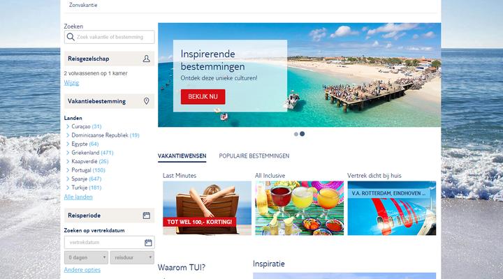 Vernieuwde website TUI.nl
