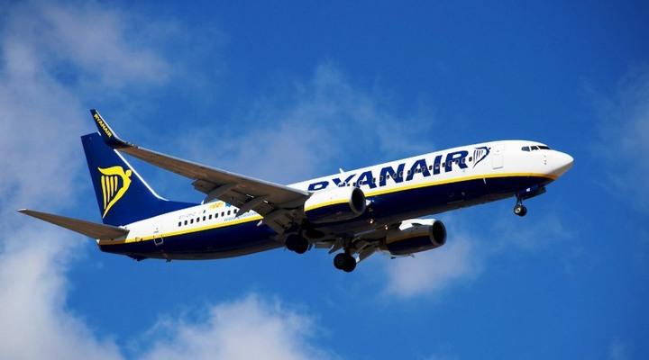 Vliegtuig van Ryanair
