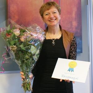 Coby van Dongen neemt Reisgraag Award in ontvangst