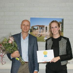 Jeroen van Heusden neemt Reisgraag Award in ontvangst