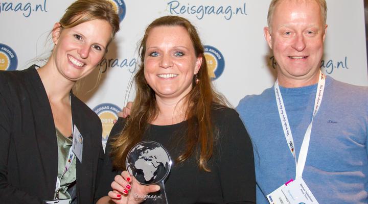 Riksja Travel met de Reisgraag award