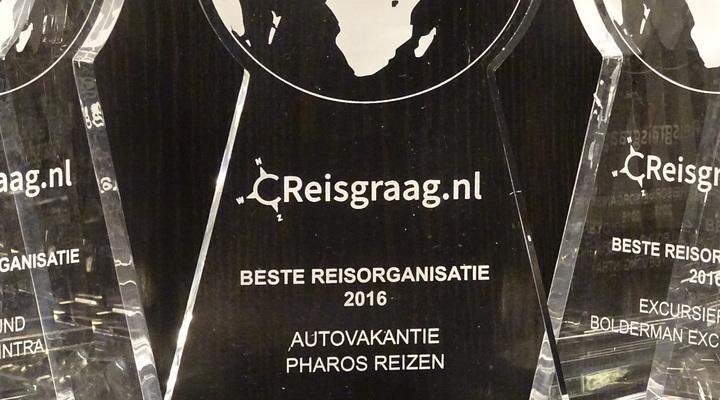 Reisgraag Award Pharos Reizen