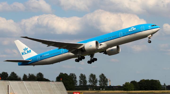 Vliegtuig van luchtvaartmaatschappij KLM